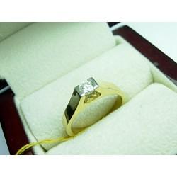 Złoty pierścionek z brylantem id: 513