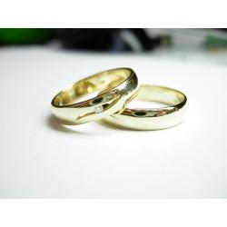 Złote obrączki z brylantem id: 517