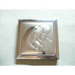 Srebrny obrazek prezent na chrzest,komunie id: 521