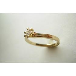 Ekskluzywny pierścionek z brylantem 0.25 ct VS2/G id: 539
