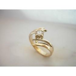 Piękny złoty pierścionek z brylantami! 0.25 ct id: 575