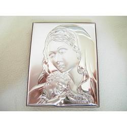 Srebrny obrazek prezent na chrzest,komunie id: 635