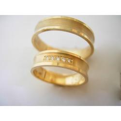 Wspaniałe złote obrączki w próbie 585 z brylantami id: 681