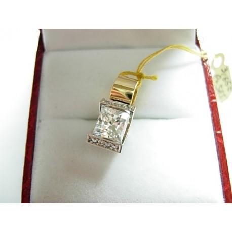 Złoty wisiorek z cyrkoniami V id: 724