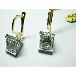 Złote kolczyki z cyrkoniami V id: 725
