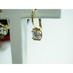 Złote kolczyki z cyrkoniami id: 728