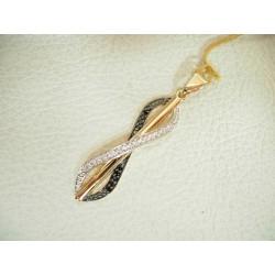 Złoty wisiorek z cyrkoniami id: 779