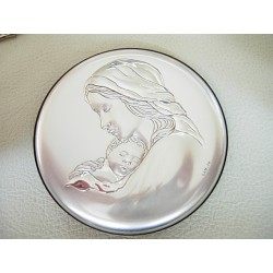 Srebrny obrazek prezent na chrzest,komunie id: 788