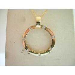Złoty wisior koło z cyrkoniami w próbie 585!! id: 837