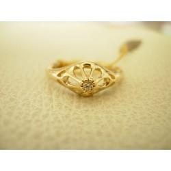 Złoty pierścionek z brylantem. Ekskluzywny id: 838