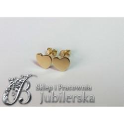 Piękne złote kolczyki serduszko celebrytki! 0.585 id: 1082