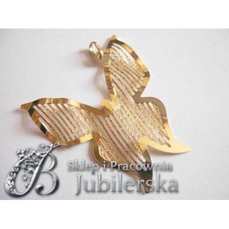 CUDOWNY Złoty Wisiorek Motyl 0.585! DUŻY id: 1266