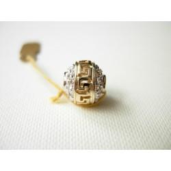 Złoty wisior kulka z Greckim Wzorem id: 131
