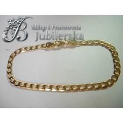 Wspaniała złota bransoletka pancerka w próbie 585! id: 1317