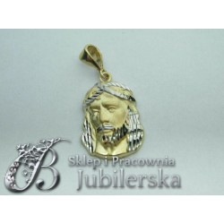 Piękny Złoty Wisiorek TWARZ JEZUSA ! Promocja! id: 1409
