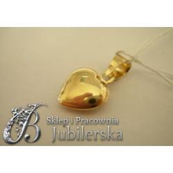 CUDOWNY Złoty Wisiorek SERCE 0.585! Promocja! id: 1412