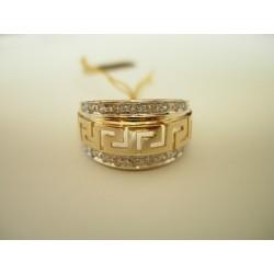 Złoty pierścionek Grecki Wzór id: 142