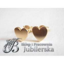 Złote kolczyki celebrytki serduszka w próbie 585! id: 1438