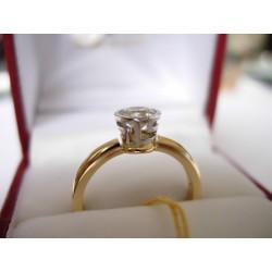 Złoty pierścionek z cyrkoniami. id: 145
