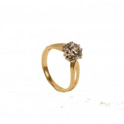 Złoty pierścionek z cyrkoniami. id: 147