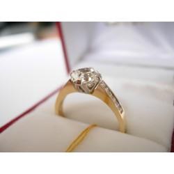 Złoty pierścionek z cyrkoniami id: 149