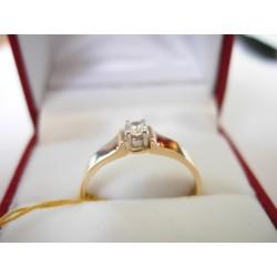 Złoty pierścionek z cyrkoniami id: 151