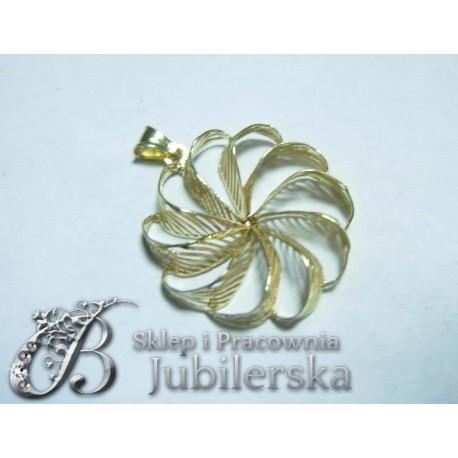 CUDOWNY Złoty Wisiorek kwiat 0.585! Promocja! id: 1581
