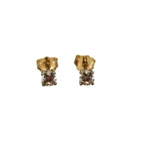 Złote kolczyki z brylantami 0.30 ct id: 1597