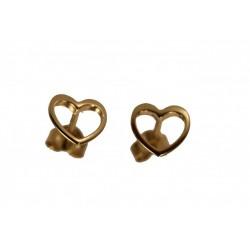 PIĘKNE Złote kolczyki serce w próbie 585 id: 1598
