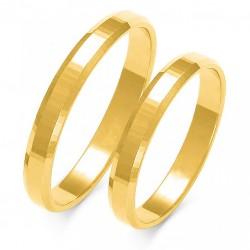 Wspaniałe złote trapezowe diamentowany obrączki w próbie 585 id: 1652