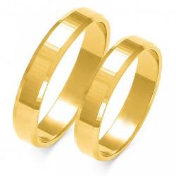 Wspaniałe złote trapezowe diamentowany obrączki w próbie 585 id: 1653