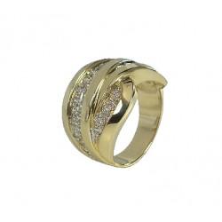 PIĘKNY Złoty pierścionek z cyrkoniami id: 1676