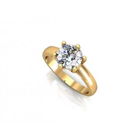 PIĘKNY Złoty pierścionek z cyrkoniami SWAROVSKIEGO id: 1765