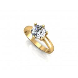 PIĘKNY Złoty pierścionek z cyrkoniami SWAROVSKIEGO id: 1674