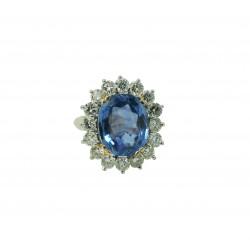 Unikalny pierścionek z szafirem 6.97 ct id: 1792