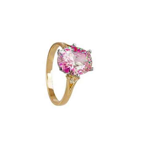 PIĘKNY Złoty pierścionek z cyrkoniami SWAROVSKIEGO id: 1808