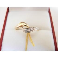 Złoty pierścionek z cyrkoniami id: 183
