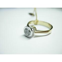 Złoty pierścionek z cyrkoniami id: 186