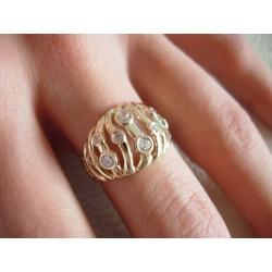 Złoty pierścionek z cyrkoniami id: 188