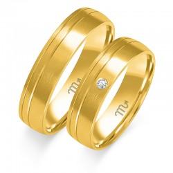 Wspaniałe złote obrączki z brylantami w próbie 585! id: 1824