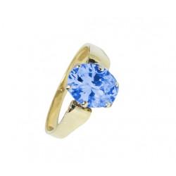PIĘKNY Złoty pierścionek z cyrkoniami SWAROVSKIEGO id: 2001