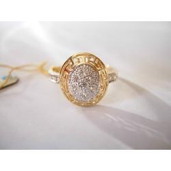 Złoty pierścionek z cyrkoniami id: 202