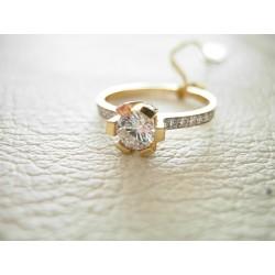 Złoty pierścionek z cyrkoniami id: 203