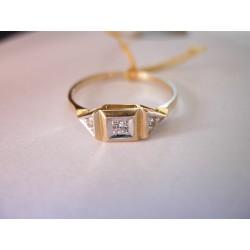 Złoty pierścionek z cyrkoniami id: 204