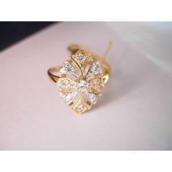 Złoty pierścionek z cyrkoniami id: 205
