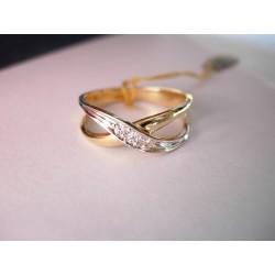 Złoty pierścionek z cyrkoniami id: 206