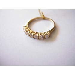Złoty pierścionek z cyrkoniami id: 208