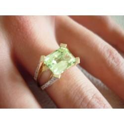 Złoty pierścionek z cyrkoniami id: 240