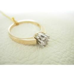 Złoty pierścionek z cyrkonią id: 241