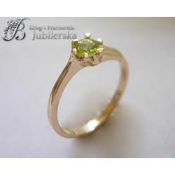 Wspaniały pierścionek z Oliwinem w pięknej barwie! id: 34